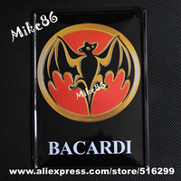 metal decor - Mike86 Bat Bacardi poster Tin sign Art wall decor House Cafe Pub Vintage Metal Craft A Mix order CM