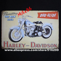 aa cafes - Mike86 Tin sign Art wall decoration House Cafe Bar Vintage Motor Metal signs Small Sizes AA Mix order CM