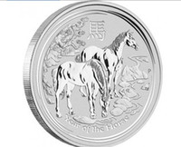 australian silver coins - oz Year of the Horse Silver Coin Free shiping fine silver metal coins Australian oz Horse Silver Coin