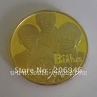 beatles coin - HOT SALE UK beatles coins fine gold plated rock famous metal souvenir coins wholesales