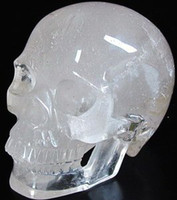 China (Mainland) quartz crystal skull - Huge Quartz Rock Crystal Crystal Skull Realistic Crystal Healing