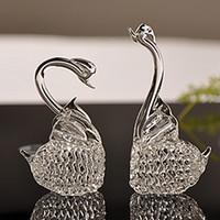 art glass figurines - Hot Handmade Crystal Glass Swan Figurine Home Accessories Wedding Gift Decoration Art Work Table Car Ornaments Mini Craft