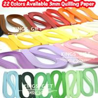 achat en gros de quilling bandes de papier-Gros-3mm x 54cm qilling Paper Strips 22 couleurs disponibles Choix Quilling papier Kits Strips Livraison gratuite