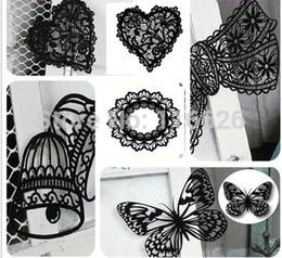 Wholesale-NEW!Delicate Flocking papercraft Laser paper carving sculpture creative black attractive lace paper-cut 6sets  lot