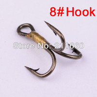 Tools, Pliers & Gaffs 8# Hook Brown Color,Brown Wholesale-500pc fishhook Brown Color 0.24g Weight 8# Fishing Hook High Carbon Steel Treble Hooks Fishing Tackle Free Shipping