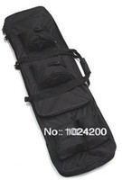 Wholesale quot Dual Tactical Rifle Sniper Carrying Case Gun Bag BK free ship