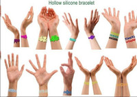 Wholesale hot selling prevails European and American Hollow silicone bracelets Healthy Bracelets