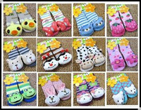 baby dolls shoes - pairs baby children socks Prevent slippery floor shoes stereo doll design cute and special