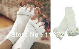 Wholesale Therapy Toe Cozy Socks Comfort Foot Toes Alignment Socks Stretch Tendon Relieve Pain Feet for Men Women OL157