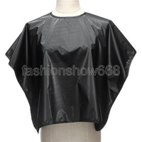 Wholesale Salon Hair Cutting Dye Perm Hairdressing Barber Black Waterproof Gown Cape Clothn Styling Tools