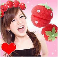 6.6*5.8cm sponge hair curler ball - Magic Beauty Strawberry Balls Soft Sponge Hair Curler Rollers Balls OR670868