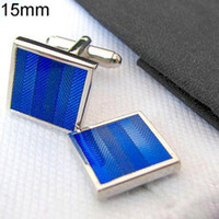 Wholesale Fashion Sleeve Button SquareCufflinks Enamel Copper Plating Men s Jewelries Cuff links Mix color