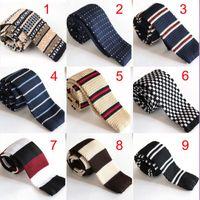 Precio de Lazo de lana-corbata de lazo ocasional de los hombres de Wholesale-20 de Inglaterra llegó estilo Nueva lana de punto de unión de Corea 5cm de los hombres El lazo estrecho de punto