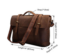 Wholesale New Arrival Rare Genuine Cow Leather Men s Briefcase Laptop Handbag Messenger Bag R