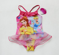 Bikinis belle bikini - Retail Girls Kids Toddler Cinderella Belle Princess Swimsuit Ages Swimwear Skirt Swim Beachwear One Pieces Swimming Clothes