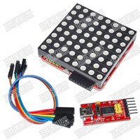 arduino led screen - Full color RGB kit m LED dot matrix screen driver board for arduino