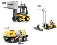 Wholesale KAZI D Construction eductional plastic Bricks Building Block Sets Churn car Crane Forktruck Enlighten children toys