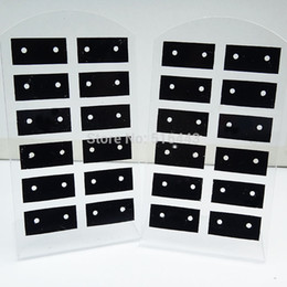 Wholesale-10pcs 12Pairs Jewelry Earring Displays Stand Stud Earing Holder Earring Display Rack Earring Packing Card Acrylic Earring cards
