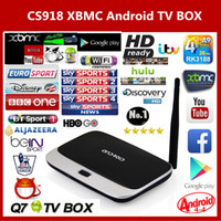 Wholesale Arabic IPTV BOX XBMC Fully Loaded Android TV Box Quad Core CS918 MK888 Q7 Android Smart TV Free SkySports Live TV HD P