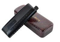 Wholesale Chromatic harmonica kingdie wh12 abs scrub surface arc type dull black