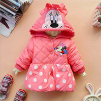Wholesale Hot sale high quality New winter cute style girl s coat girl s Mickey design keep warm Cotton padded clothes coat
