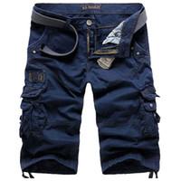 Men men capri pants - New Fashion Summer Mens Cargo Shorts Calf Length Men Short Pants Capri Pants