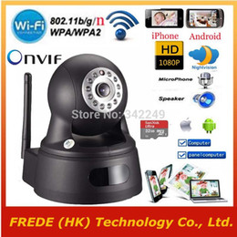 Wholesale-WiFi IP camera Security Wireless,1920*1080P,P2P Pan Tilt,Video camcorder,SD TF Card,Two Way Audio,for 3G 4G of iphone Andorid,PC