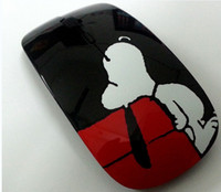 Wholesale Fashion Cartoon Rabbit Snoopy Wireless Mouse DPI GHz PC Peripherals Ergonomically Designed Win Mouse