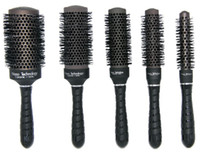 Wholesale Hot saling Nano ceramic hair brush in black color ionic round brush in Nano technology price for i set
