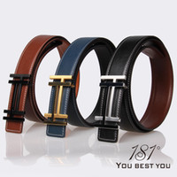 Wholesale New Colors Mens Designer Letter Leather Brand Belts Fashion H Steel Buckles quot Cowhide High Quality Belt Strap For Men