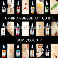 Tattoo Ink airbrush paint bottles - OPHIR x30ML Bottle Airbrush Body Art Paint Inks Pigment for Temporary Tattoo Colors For Airbrush Kit _TA053