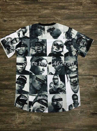Wholesale FNTY BIGGIE pac INC Men leather Sleeve T shirts NY LA Jordans Mike Tyson tupac Tee Cashmere HBA retail