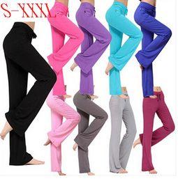 Wholesale Straight Leg Harem Pants - Wholesale-S-XXXL plus size women dance modal Harem Pants Sport Drawstring GYM Long Pants Trousers Straight Leg Casual Pants NBR0001