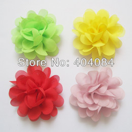 Wholesale Al por mayor nuevas flores de Navidad colors de valores Mini flores de la gasa Cabeza de flor hortensia soplo de Charlotte Tulle
