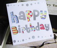 assorted birthday cards - Medium size birthday card foldable with envelope greeting card assorted patterns gift card