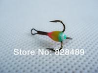 antron yarn - CheapPrice Fishing Treble Hook Ice Fishing Hook With Antron Yarn Feather Winter Fishing Mustad Hook