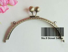 Wholesale Track Ship DIY cm Press Ball Head Metal Purse Frame Handle for Bag Sewing Craft Tailor Sewer
