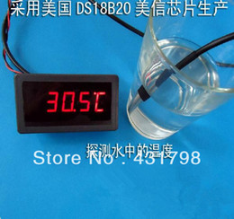 Wholesale DS18B20 Stainless steel package meters waterproof DS18b20 temperature probe temperature sensor B20 in stock high quality