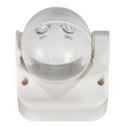 Wholesale-240V Outdoor 180 Degree 50Hz Security PIR Motion Movement Sensor Detector Switch Free Shipping