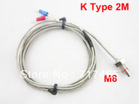 Wholesale Temperature Sensor K Type Thermocouple M Length M8 Thead Diameter