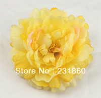Wholesale Gold Yellow Peony Artificial Flower for Jewlery Making Hair Craft