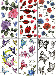 Wholesale Temporary tattoo Waterproof body tattoo stickers mix designs