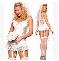 anime bride - sexy lingerie white wedding dress bride costumes cosplay lingeriegirls Underwear Garter T hairpins sl395