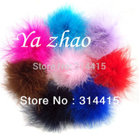 Satin marabou puffs - Marabou Feather Puff feather flower for Hair accessory color