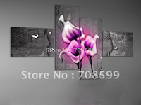 Wholesale High Quality Guaranteed Wall Art Home Decoration Hand painted Flower Oil Painting on Canvas M20151013