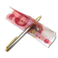 Wholesale Magic Tricks Props Pen Through Wear Notes Bill Money Pen Without Holes Teaser Game Tool
