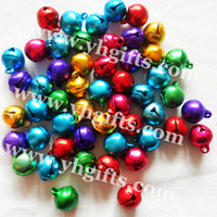 Wholesale mm metal jingle bell Mixed color Doll accessories Craft bells Promotion gift Freeshipping OEM