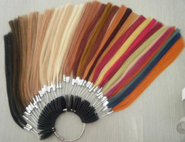 Wholesale human hair color ring for hair extensions colors per ring