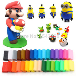 Wholesale Hot Sale Colors blocks Soft For Fimo Effect Polymer Modeling Clay Colorful Blocks Plasticine For Kids