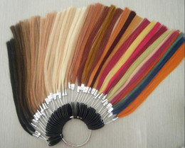 Wholesale GAMA color ring human hair extensions colors referrence
